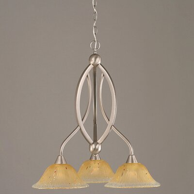 Bow 3-Light Shaded Chandelier Finish: Brushed Nickel