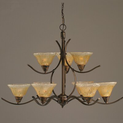 Swoop 9-Light Shaded Chandelier