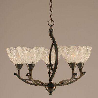 Bow 5-Light Shaded Chandelier Finish: Black Copper