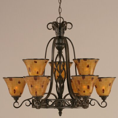 Elegant� 9-Light Shaded Chandelier Shade: Pen Shell Resin