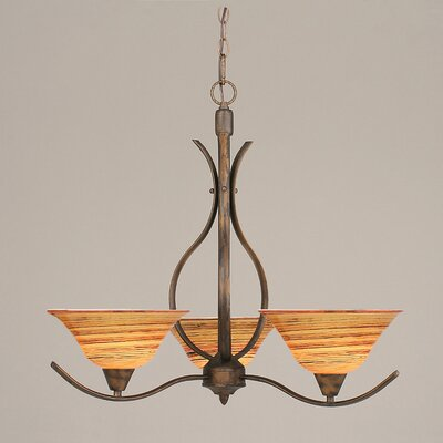 Swoop 3-Light Shaded Chandelier