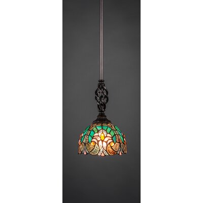 Elegant� Bowl Pendant Shade Color: Turquoise