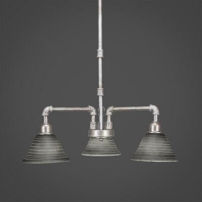 Kash 3-Light Charcoal Shaded Chandelier Size: 18.75 H x 20 W x 20 D