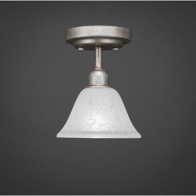 Vintage 1-Light Semi-Flush Mount Size: 8.5 H x 7 W x 7 D