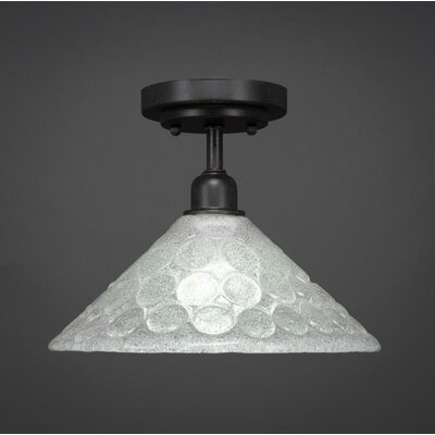 Kash 1-Light Cone Shade Semi-Flush Mount