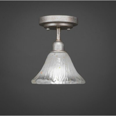 Kash 1-Light Frosted Crystal Semi-Flush Mount