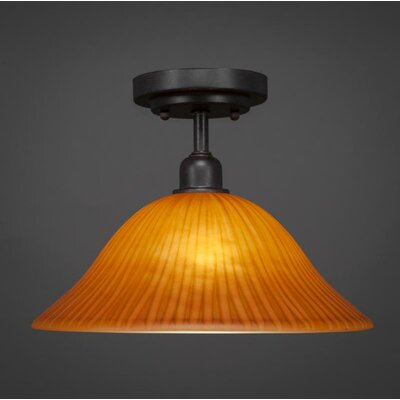 Kash 1-Light Orange Semi-Flush Mount
