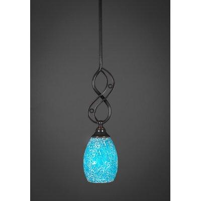 Jazz 1-Light Mini Pendant Shade Color: Turquoise