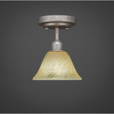 Kash 1-Light Gold Semi-Flush Mount Size: 8.5 H x 7 W x 7 D