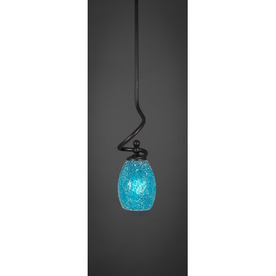 Capri Stem 1-Light Mini Pendant Shade Color: Turquoise