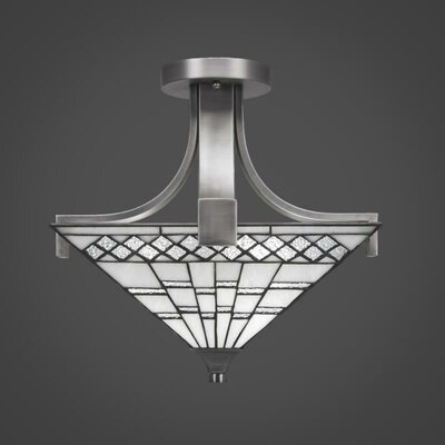 Eurig 2-Light Semi-Flush Mount
