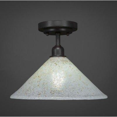 Kash 1-Light Gold/White Semi-Flush Mount