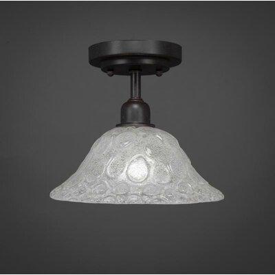 Kash 1-Light Dark Granite Semi-Flush Mount