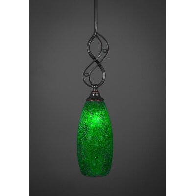 Jazz 1-Light Mini Pendant Shade Color: Green