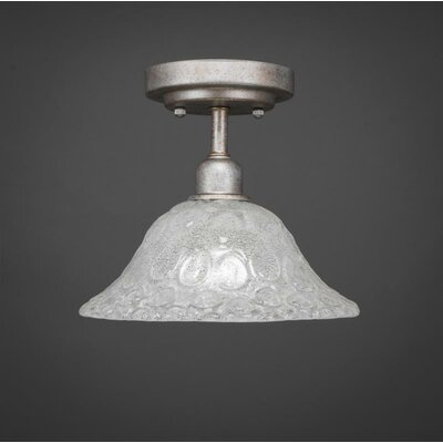 Kash 1-Light White Semi-Flush Mount