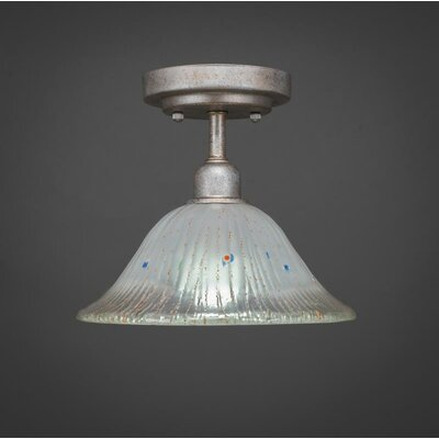 Kash 1-Light Bell Shade Semi-Flush Mount