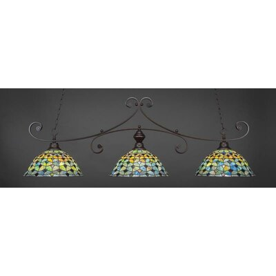 Copeland 3-Light Billiard Pendant Base Color: Dark Granite