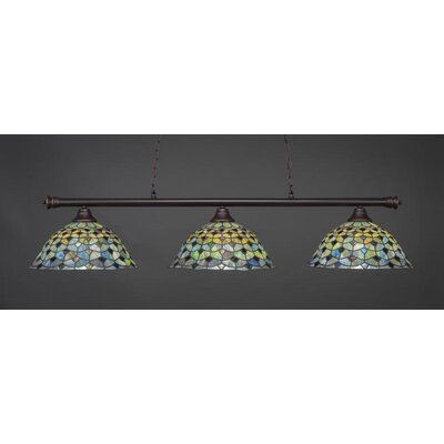 Passabe 3-Light Billiard Pendant Base Finish: Dark Granite