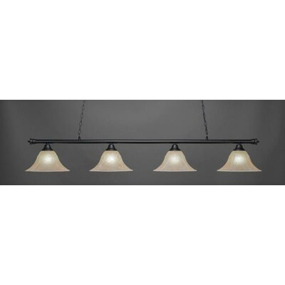 Passabe 4-Light Billiard Pendant Shade Color: Amber