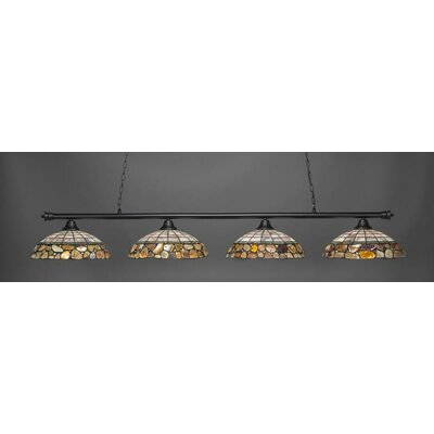Oxford 4-Light Pendant Base Finish: Matte Black