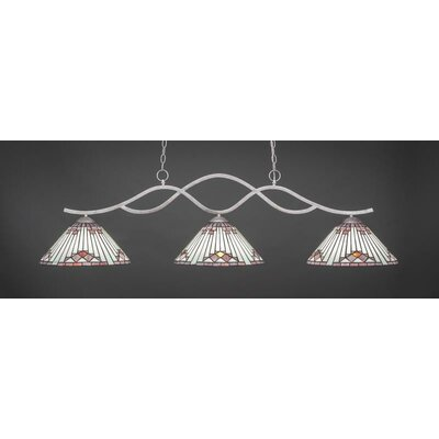 Revo 3-Light Billiard Pendant Base Finish: Aged Silver