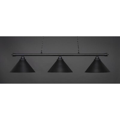 Oxford 3-Light Billiard Pendant Base Finish: Matte Black