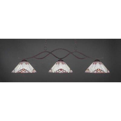 Revo 3-Light Billiard Pendant Base Finish: Dark Granite