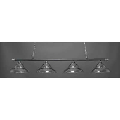 Passabe 4-Light 150W Hardwired Billiard Pendant