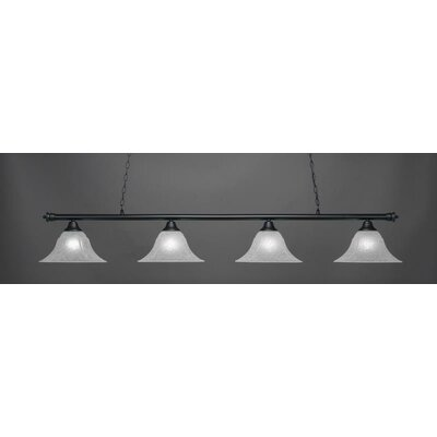 Oxford 4-Light Billiard Pendant Shade Color: White