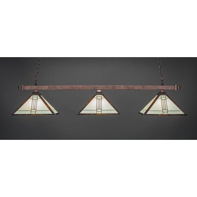 3-Light Billiard Pendant Base Finish: Bronze