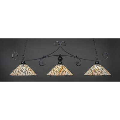Babin 3-Light Billiard Pendant Base Color: Matte Black