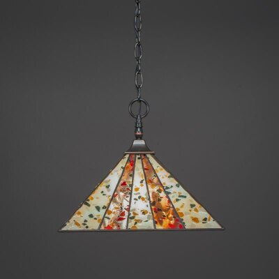 1-Light Pendant Base Finish: Black Copper
