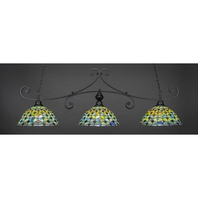Copeland 3-Light Billiard Pendant Base Finish: Matte Black