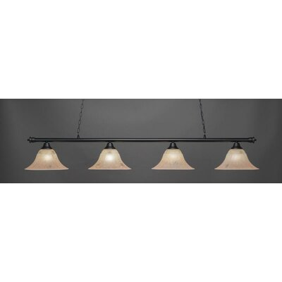 Passabe 4-Light Billiard Pendant Shade Color: Italian