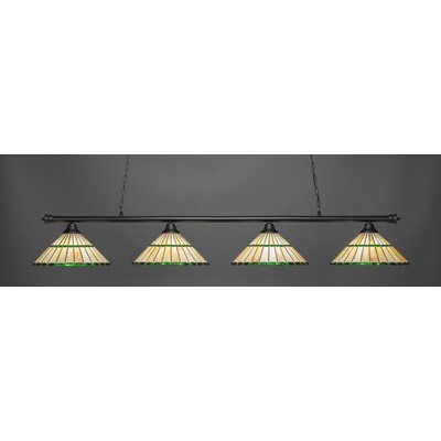 Oxford 4-Light Billiard Pendant Shade Color: Honey Green
