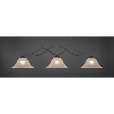 Revo 3-Light Kitchen Island Pendant Shade Color: Italian, Base Finish: Dark Granite