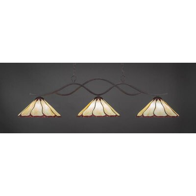 Revo 3-Light Billiard Pendant Shade Color: Honey Burgundy
