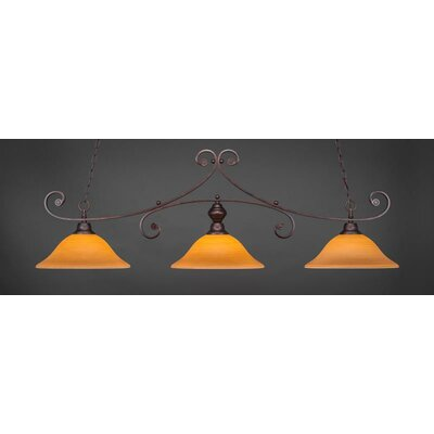 Babin 3-Light Billiard Pendant Shade Color: Cayenne