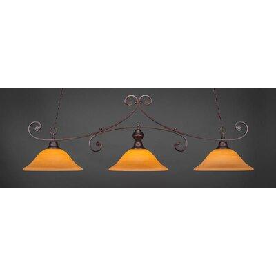 Babin 3-Light Billiard Pendant Shade Color: Cayenne
