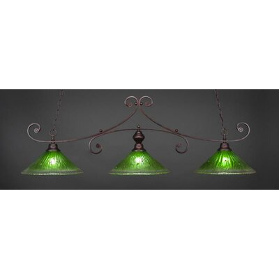 Babin 3-Light Billiard Island Pendant Shade Color: Kiwi Green