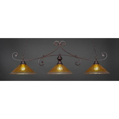Babin 3-Light Billiard Island Pendant Shade Color: Gold Champagne