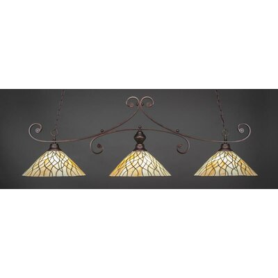 Babin 3-Light Billiard Pendant Base Color: Bronze