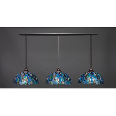 3-Light Kitchen Island Pendant Base Finish: Dark Granite