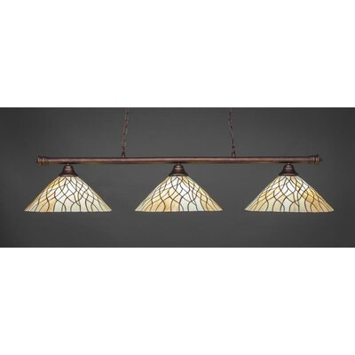 Oxford 3-Light Billiard Pendant Base Finish: Bronze