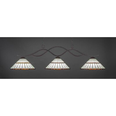 Revo 3-Light Billiard Pendant Shade Color: Honey Amber/Brown