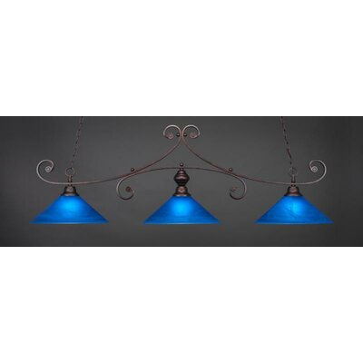 Jacksonville 3-Light Billiard Pendant Base Finish: Bronze