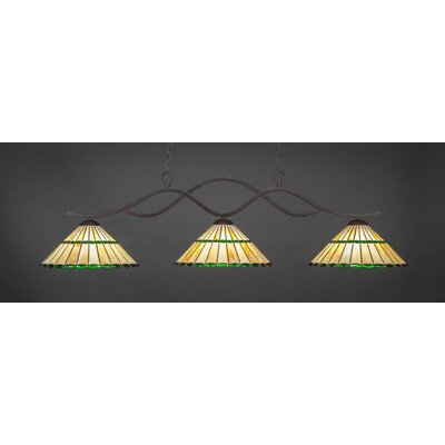 Revo 3-Light Billiard Pendant Shade Color: Honey Green