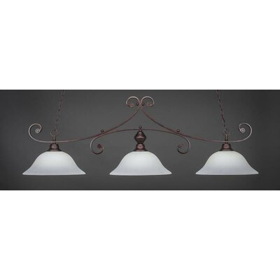 Babin 3-Light Billiard Pendant Shade Color: White
