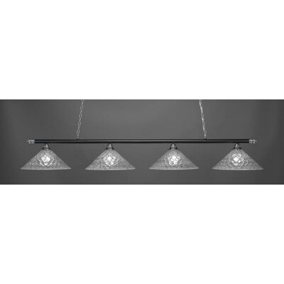 Oxford 4-Light Billiard Pendant Base Finish: Chrome/Matte Black