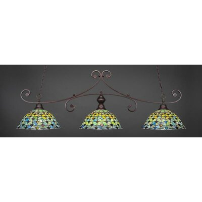 Copeland 3-Light Billiard Pendant Base Color: Bronze